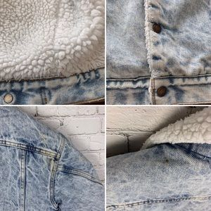 Levi's Jackets & Coats - Levi's Sherpa denim oversized jacket acid wash